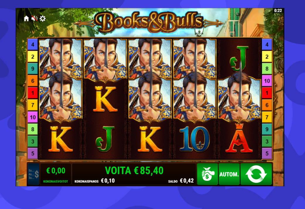 Books & Bulls Casino win picture by Banhamm 28.6.2020 85.40e 854X Caxino