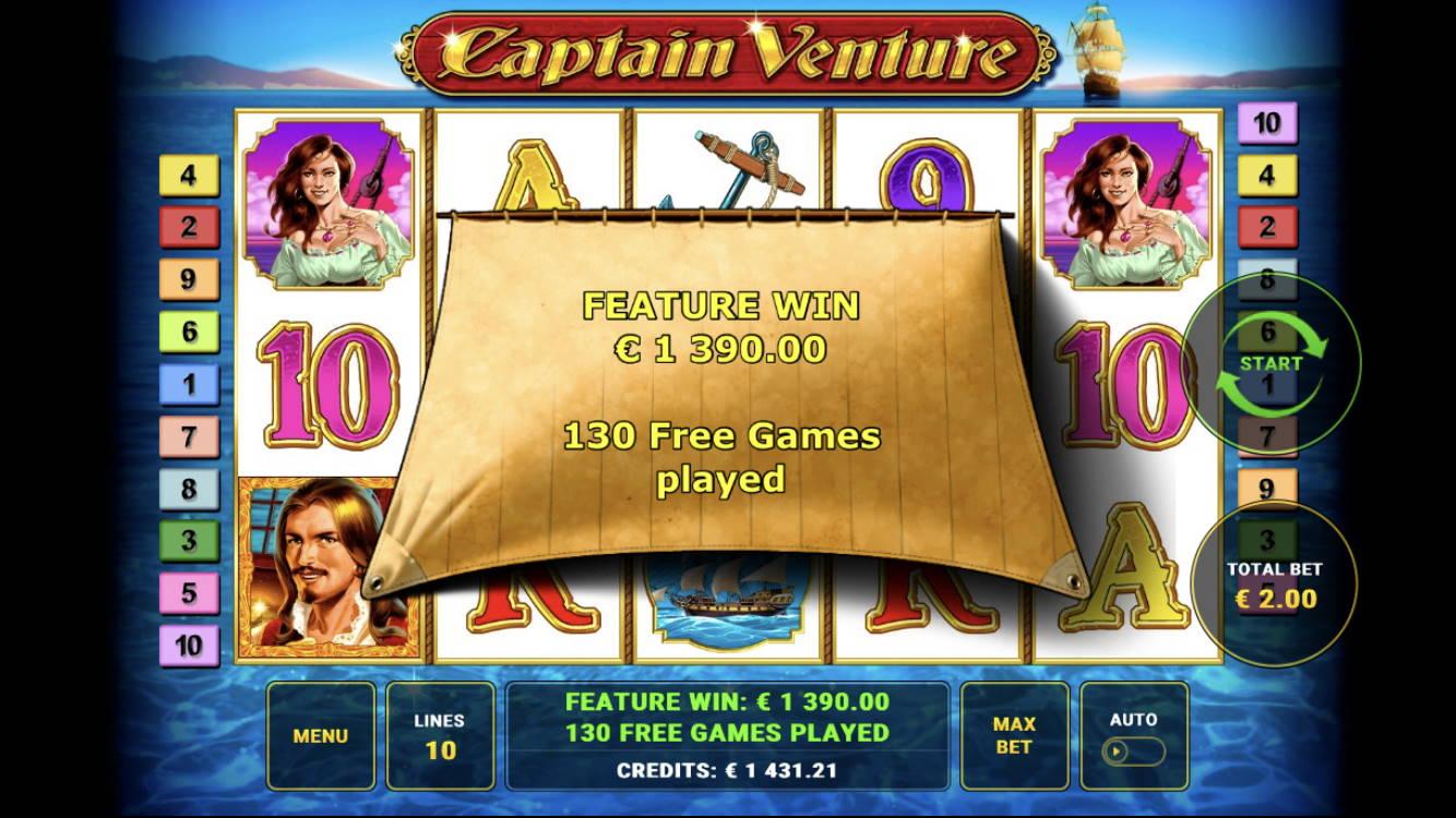 Captain Venture Casino win picture by Patchi 19.7.2020 1390e 695X