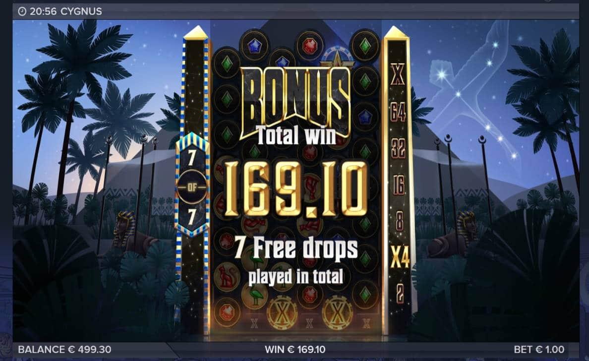 Cygnus Casino win picture by Mrmork666 21.7.2020 169.10e 169X VulkanVegas