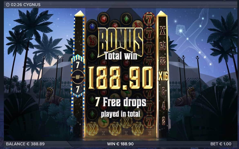 Cygnus Casino win picture by Mrmork666 21.7.2020 188.90e 189X VulkanVegas