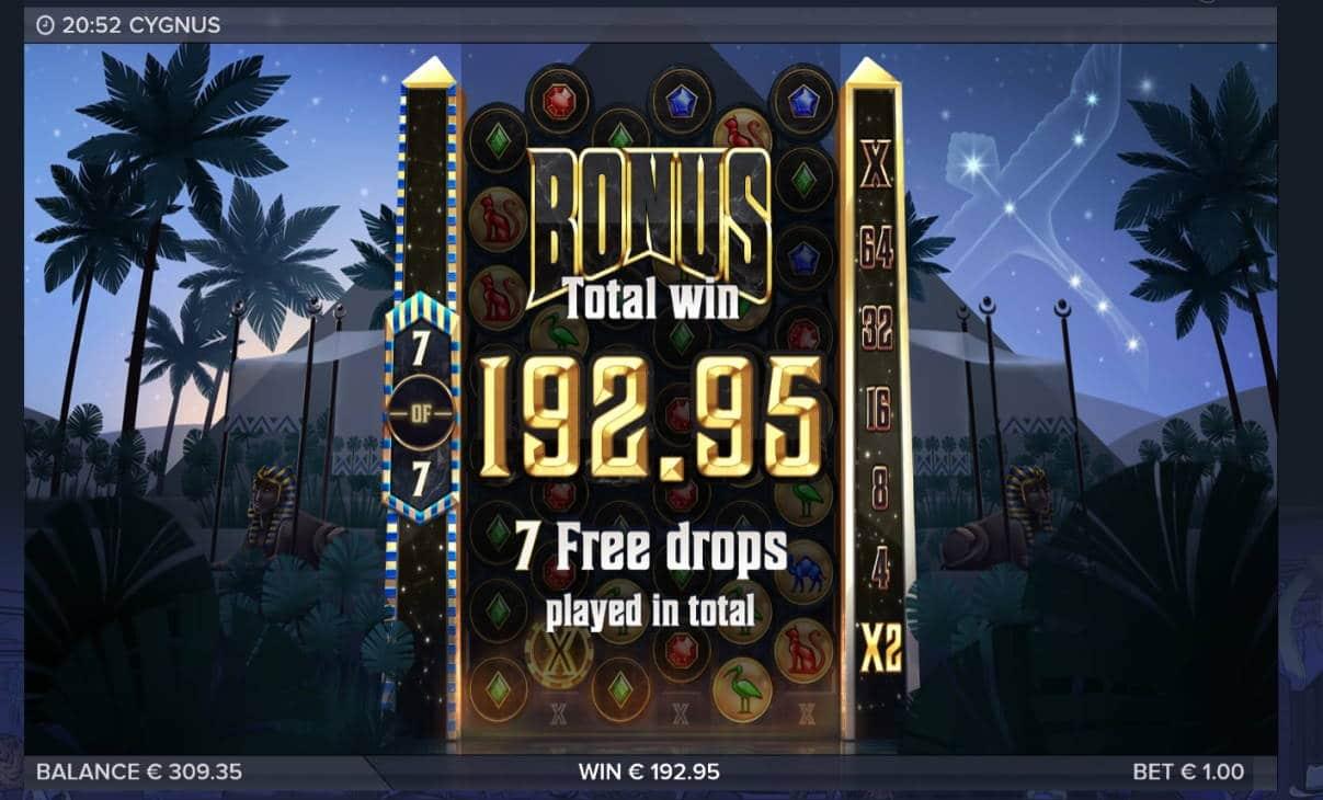 Cygnus Casino win picture by Mrmork666 21.7.2020 192.95e 193X VulkanVegas