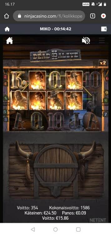 Dead or Alive 2 Casino win picture by MikoTiko 5.7.2020 15.86e 176X Ninja Casino