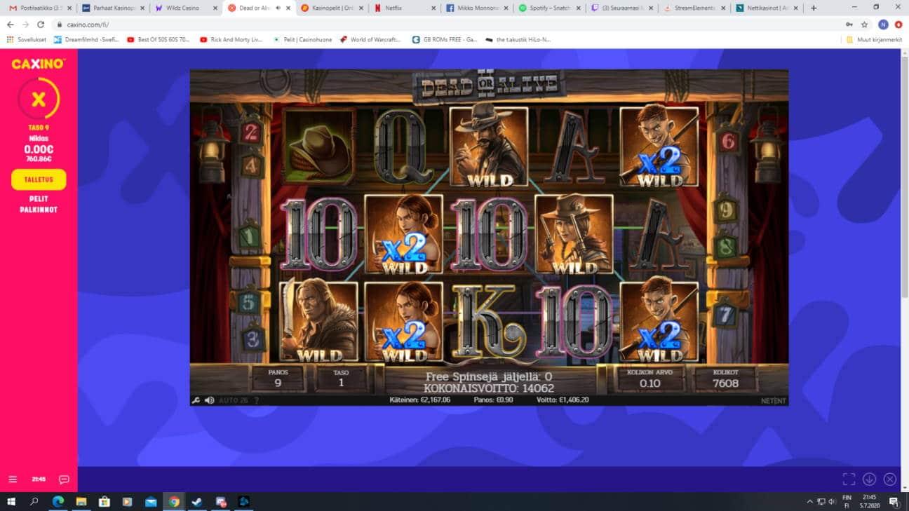Dead or Alive 2 Casino win picture by MurdoX 5.7.2020 1406.20e 1562X Caxino