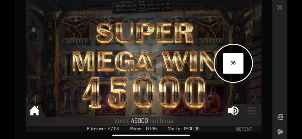 Dead or Alive 2 Casino win picture by raakasoossi 10.7.2020 900e 2500X Unibet