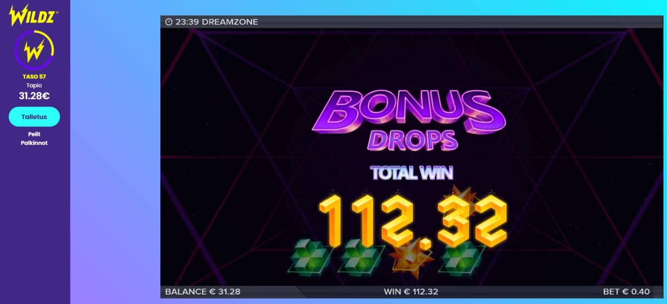 Dreamzone Casino win picture by Mrmork666 7.7.2020 112.32e 281X Wildz