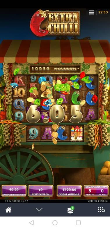 Extra Chilli Casino win picture by Hookos 15.7.2020 120.64e 603X