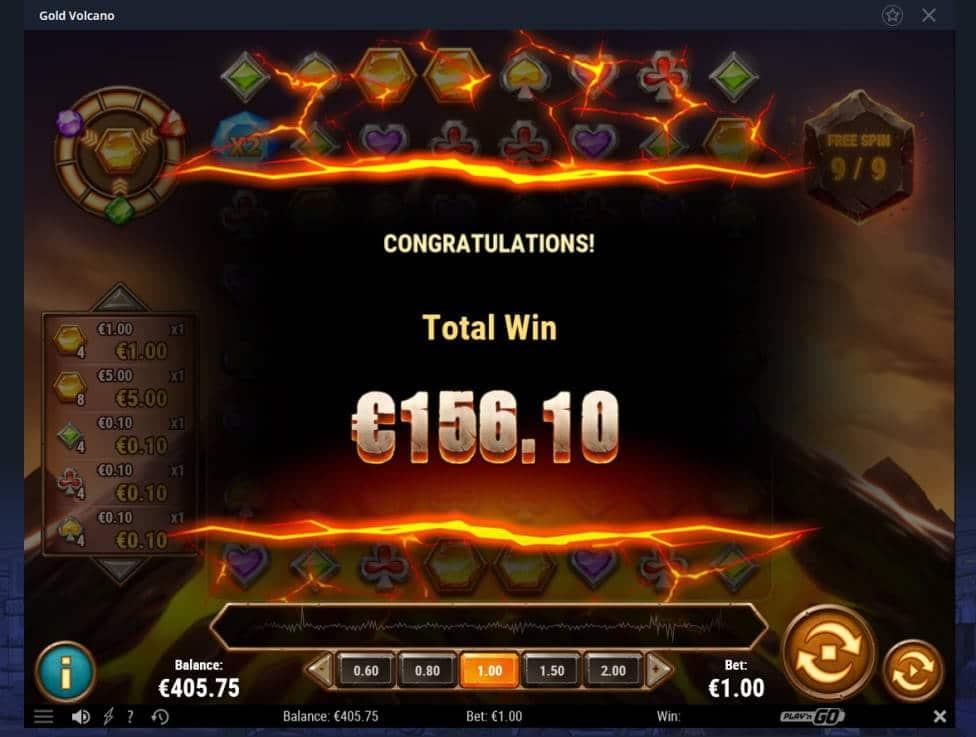 Gold Volcano Casino win picture by Mrmork666 21.7.2020 156.10e 156X VulkanVegas