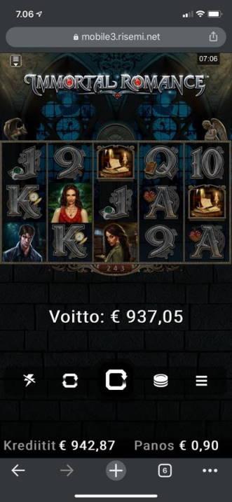 Immortal Romance Casino win picture by Moonhoaxx 14.7.2020 937.05e 1041X