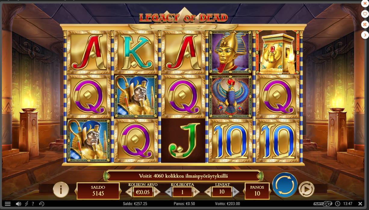 Legacy of Dead Casino win picture by Kari Grandi 15.7.2020 203e 406X
