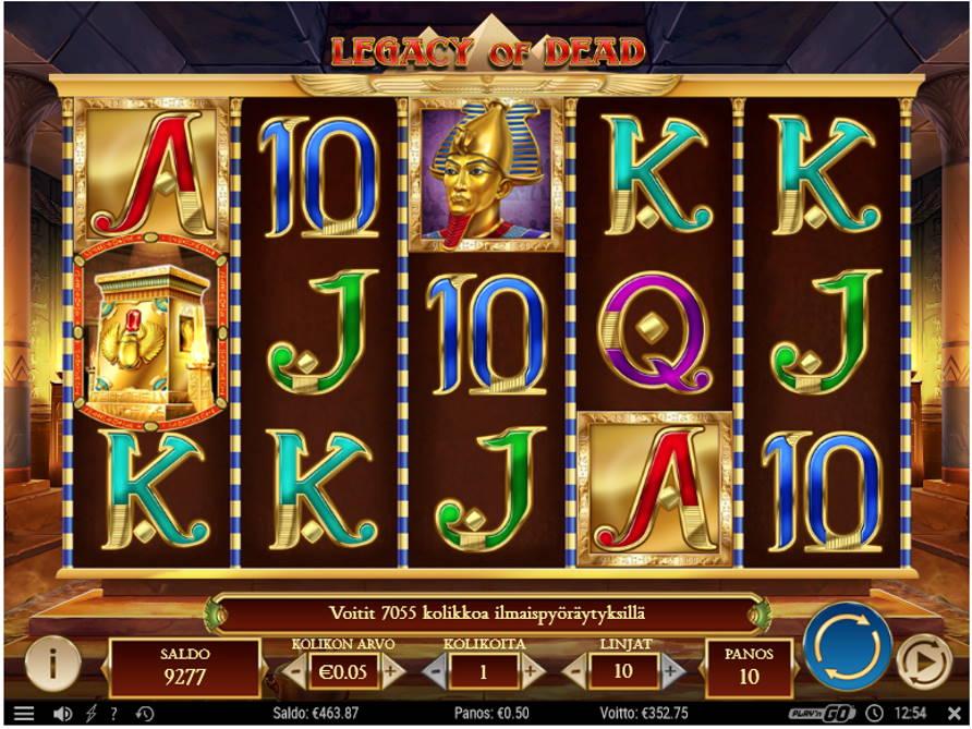 Legacy of Dead Casino win picture by Kari Grandi 29.6.2020 352.75e 706X