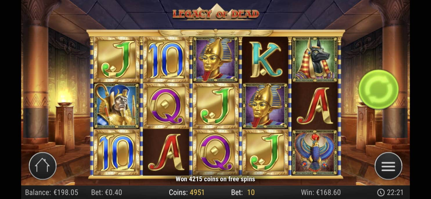 Legacy of Dead Casino win picture by livewithoutlimits1986 7.5.2020 168.60e 422X