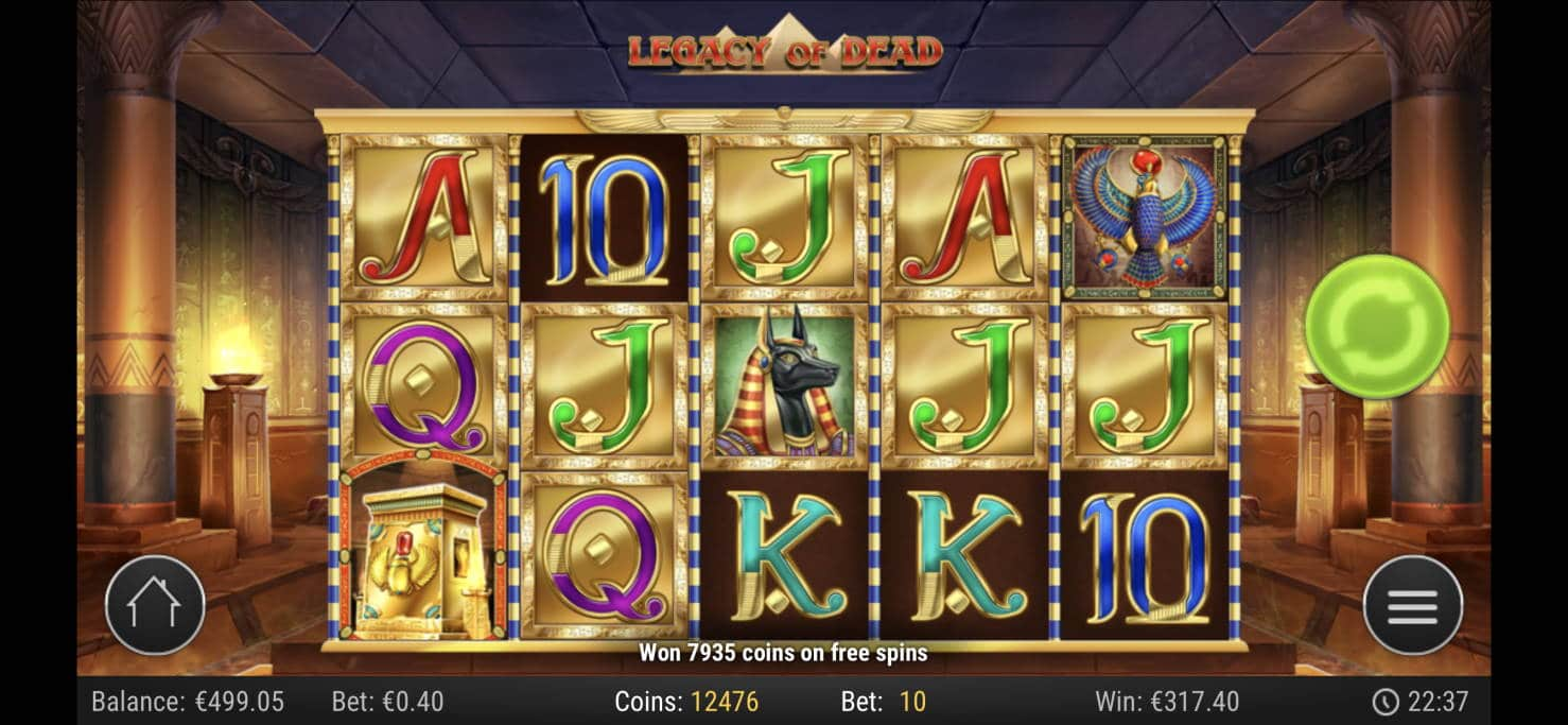 Legacy of Dead Casino win picture by livewithoutlimits1986 7.5.2020 317.40e 794X