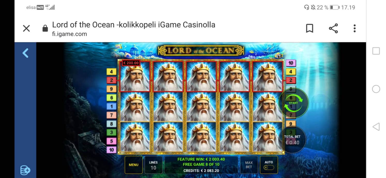 Lord of the Ocean Casino win picture by Zoja 9.7.2020 2003.40e 5009X iGames