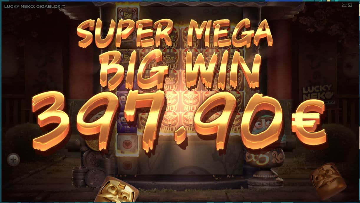Lucky Neko Casino win picture by Kari Grandi 16.7.2020 397.90e 497X