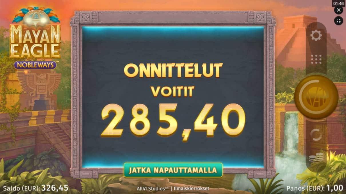 Mayan Eagle Casino win picture by jyhi 13.7.2020 285.40e 285X