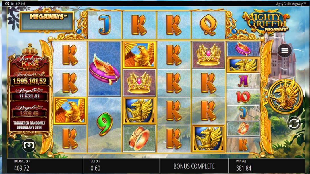 Mighty Griffin Megaways Casino win picture by Kari Grandi 25.6.2020 381.84e 636X