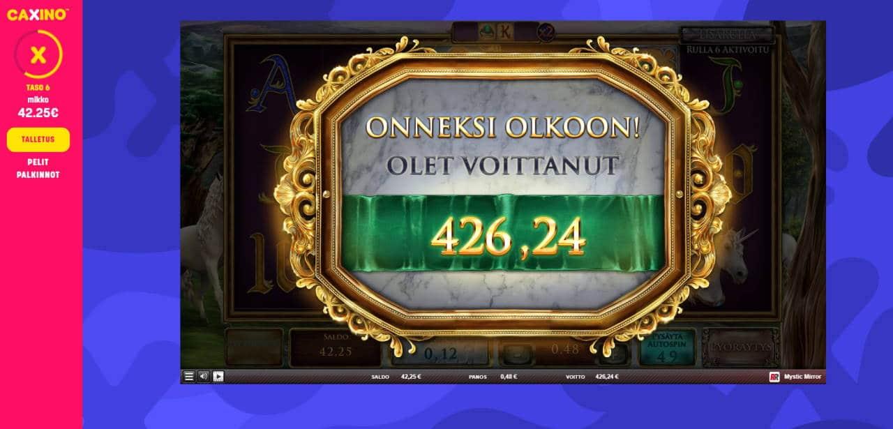 Mystic Mirror Casino win picture by Banhamm 27.6.2020 426.24e 888X Caxino