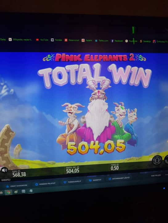 Pink Elephants 2 Casino win picture by hessu86 26.6.2020 504.05e 1008X