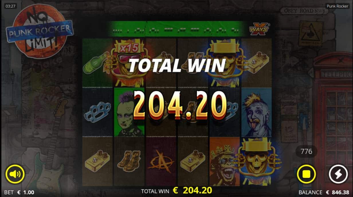 Punk Rocker Casino win picture by Kari Grandi 20.7.2020 204.20e 204X