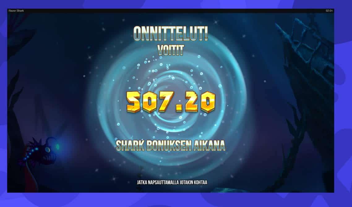 Razor Shark Casino win picture by Banhamm 29.6.2020 507.20e 1014X