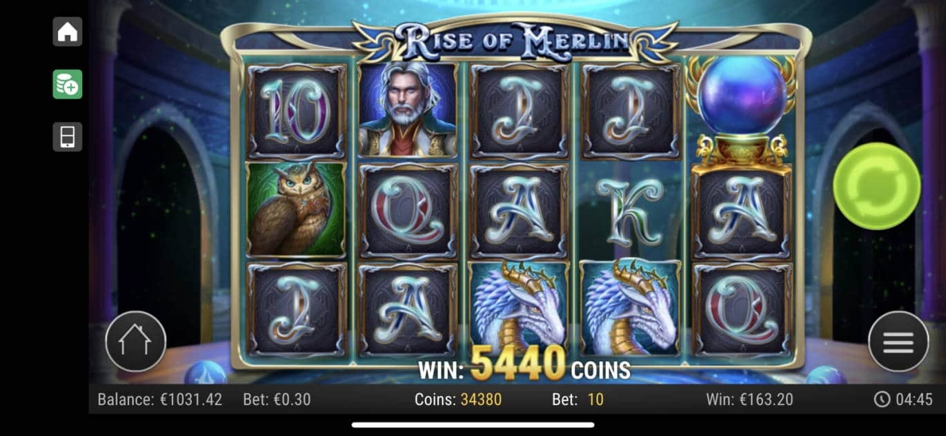 Rise of Merlin Casino win picture by livewithoutlimits1986 12.7.2020 163.20e 544X