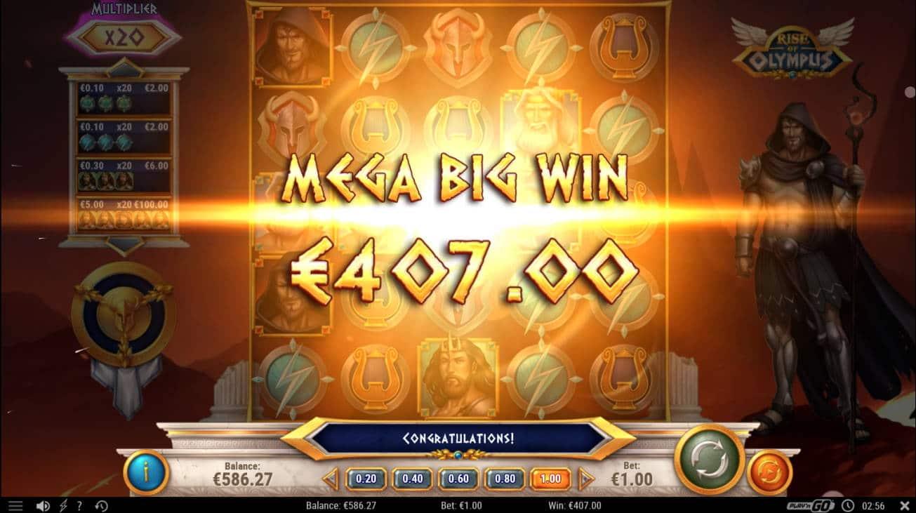 Rise of Olympus Casino win picture by Kari Grandi 20.7.2020 407e 407X