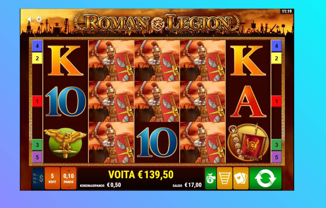 Roman Legion Casino win picture by Banhamm 29.6.2020 139.50e 279X Wildz