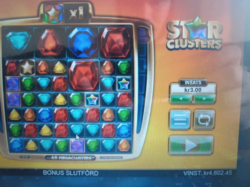 Star Clusters Casino win picture by Impster88 26.6.2020 4602.45Kr 1534X