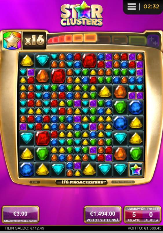 Star Clusters Casino win picture by Orava 27.6.2020 1494e 498X