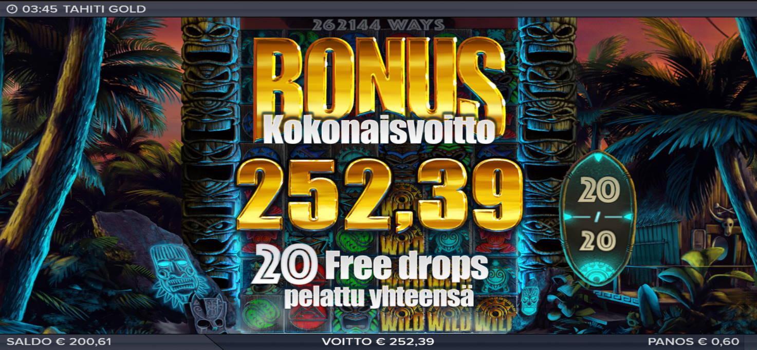 Tahiti Gold Casino win picture by Kari Grandi 16.7.2020 252.39e 421X