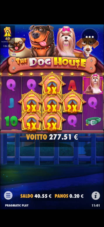 The Dog House Casino win picture by SJaN 10.7.2020 277.51e 1388X