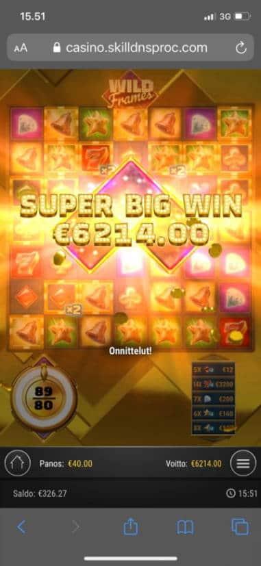 Wild Frames Casino win picture by Pottijussi 19.7.2020 6214e 155X AhtiGames