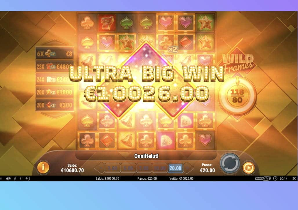 Wild Frames Casino win picture by Pottijussi 5.7.2020 10026e 501X Wildz