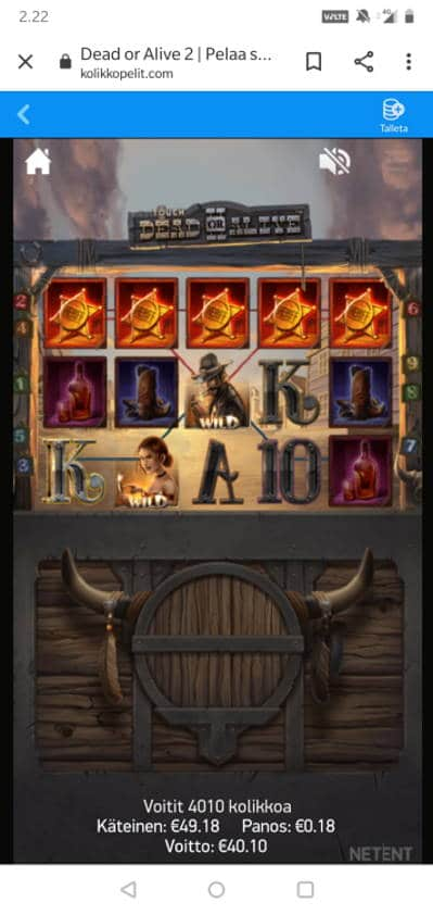Dead or Alive 2 Casino win picture by MikoTiko 30.7.2020 40.10e 223X Kolikkopelit