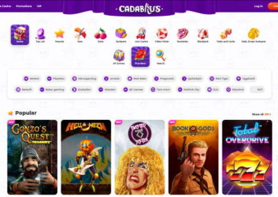 Cadabrus Casino Game Providers