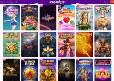 Cadabrus Casino Slots Lobby