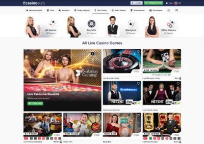 CasinoEuro Live Dealer Games
