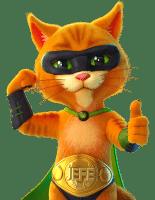 CasinoJEFE kissa maskotti