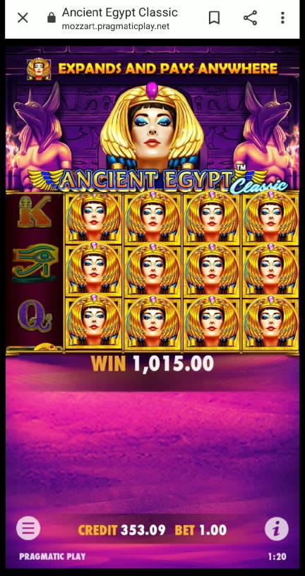Ancient Egypt Casino win picture by Markochef94 16.11.2020 1015e 1015X