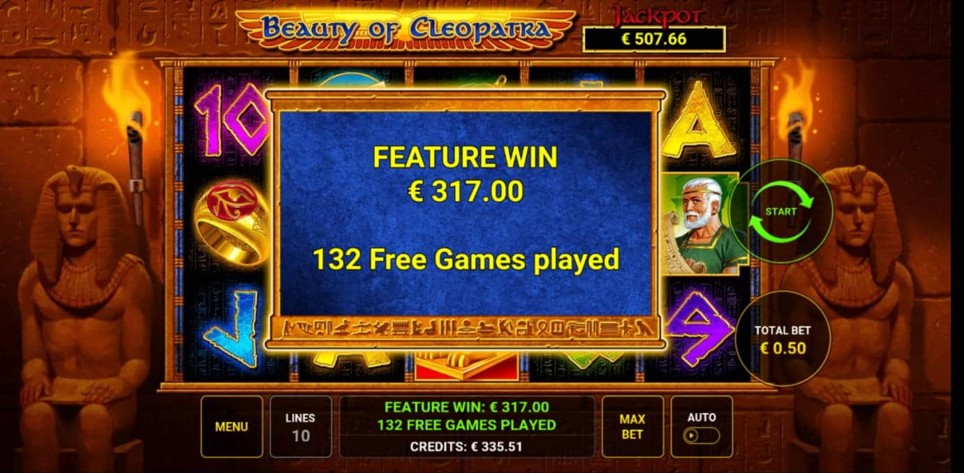 Beauty of Cleopatra Casino win picture by Salatheel 4.11.2020 335.51e 671X