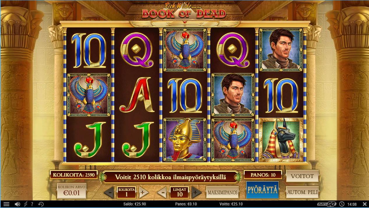 Book of Dead Casino win picture by SomebodyCamper 1.11.2020 25.10e 251X