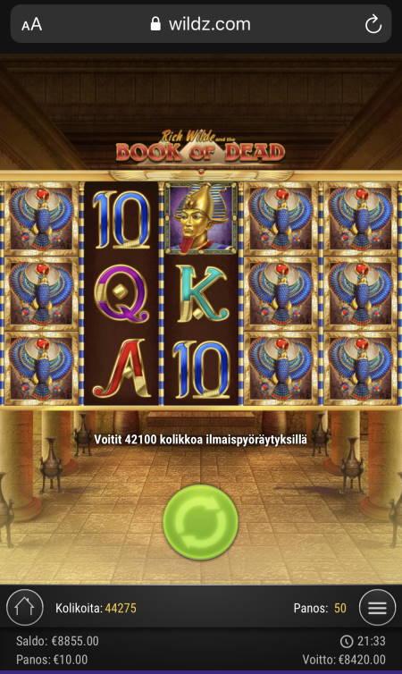 Book of Dead Casino win picture by sonefinland 17.11.2020 8420e 842X Wildz