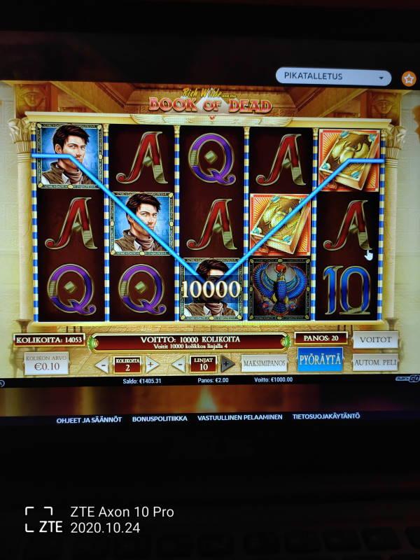 Book of Dead Casino win picture by tompeww 25.10.2020 1000e 500X