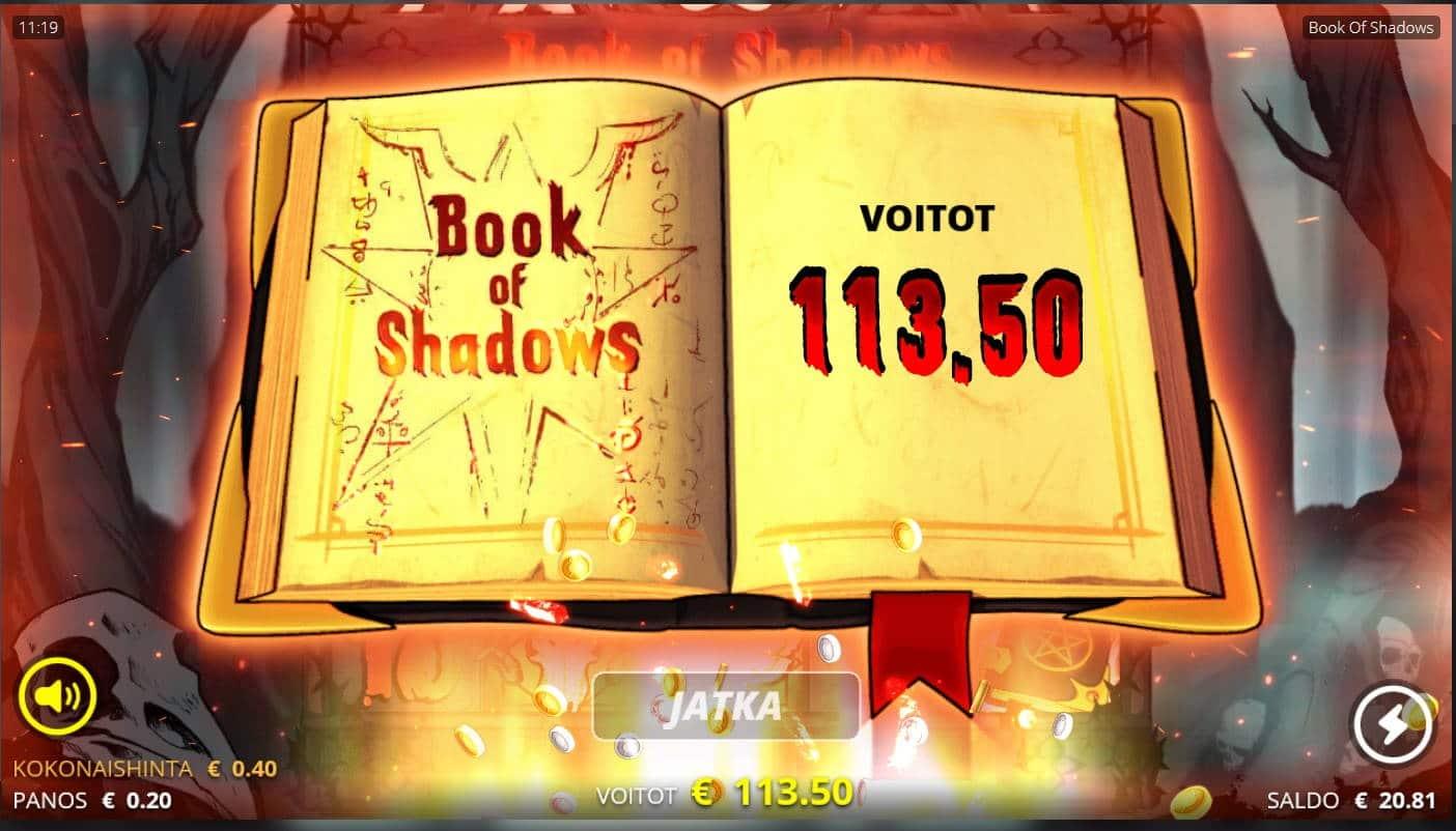 Book of Shadows Casino win picture by MrMork666 16.11.2020 113.50e 284X