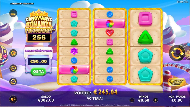 Candyways Bonanza Megaways Casino win picture by Kari Grandi 3.11.2020 245.04e 272X