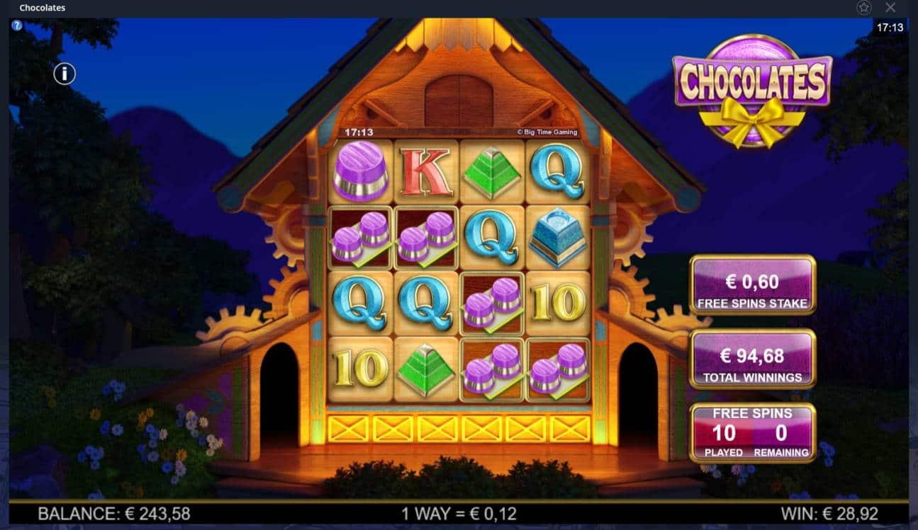 Chocolates Casino win picture by MrMork666 28.10.2020 94.68e 158X