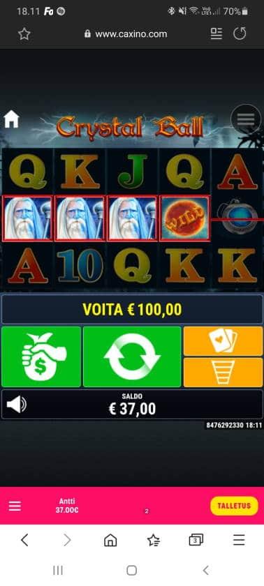 Crystal Ball Casino win picture by dj_niemi 28.10.2020 100e 200X Caxino