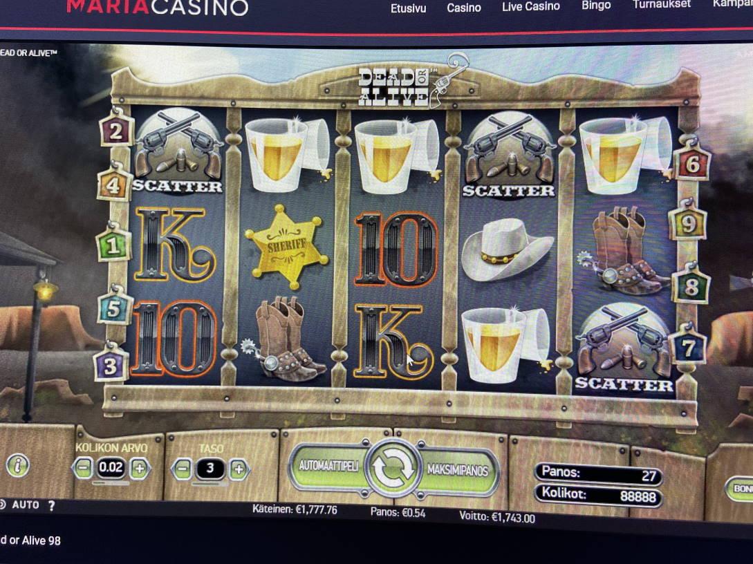 Dead or Alive Casino win picture by tuomokingi 27.10.2020 1743e 3228X Maria Casino