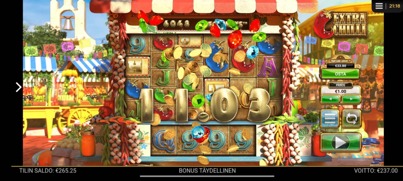 Extra Chilli Casino win picture by tiikerililja87 23.10.2020 237e 237X