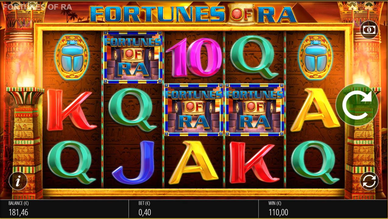 Fortunes of Ra Casino win picture by LexKing 23.10.2020 110e 275X